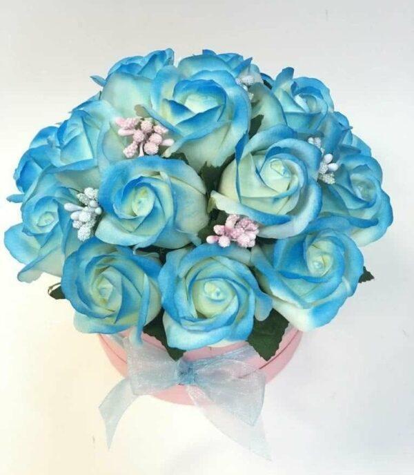 Букеты из мыла - 1 600 Цвет: голубой