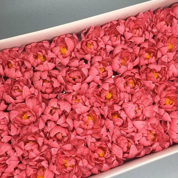 Хризантемы из мыла - 1 200 Цвет: розовый