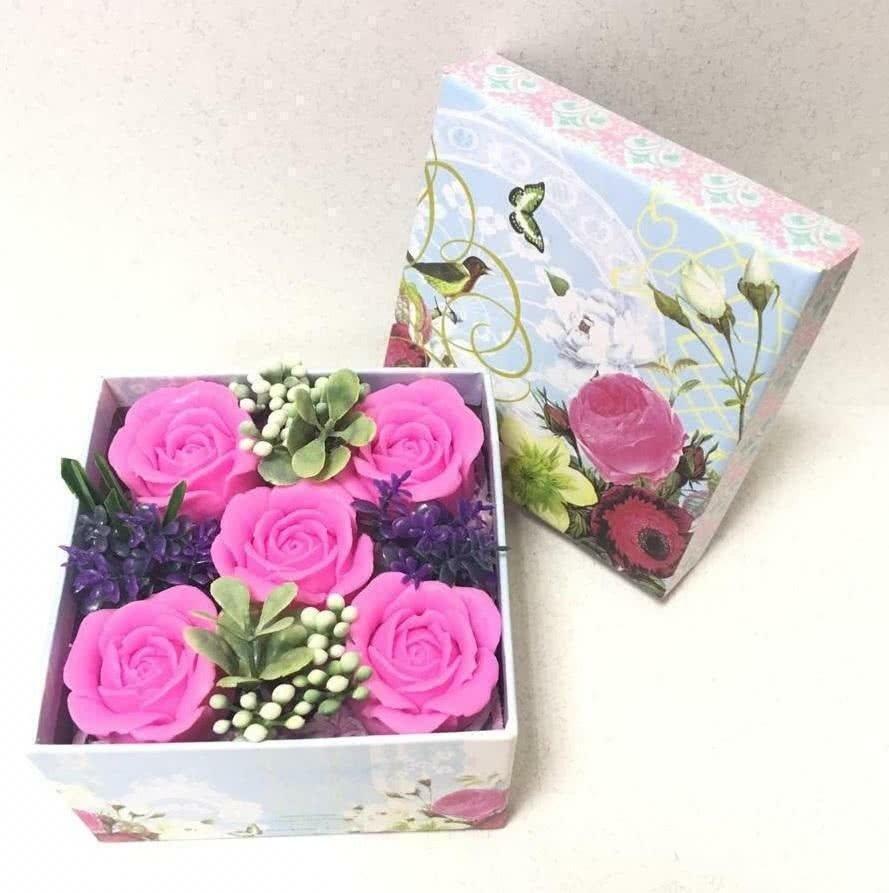 Мыльный набор «Розы» в коробке