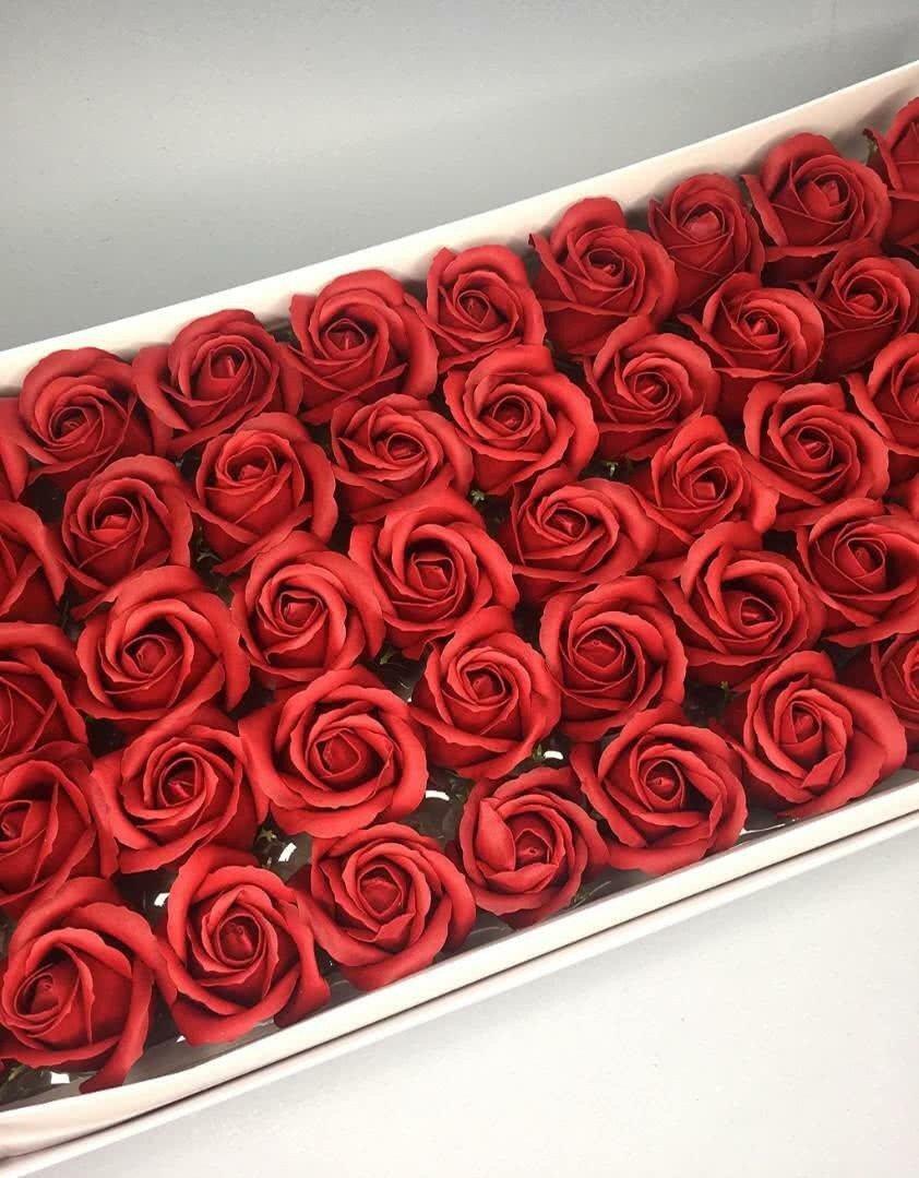 Роза — бордовая 50 шт