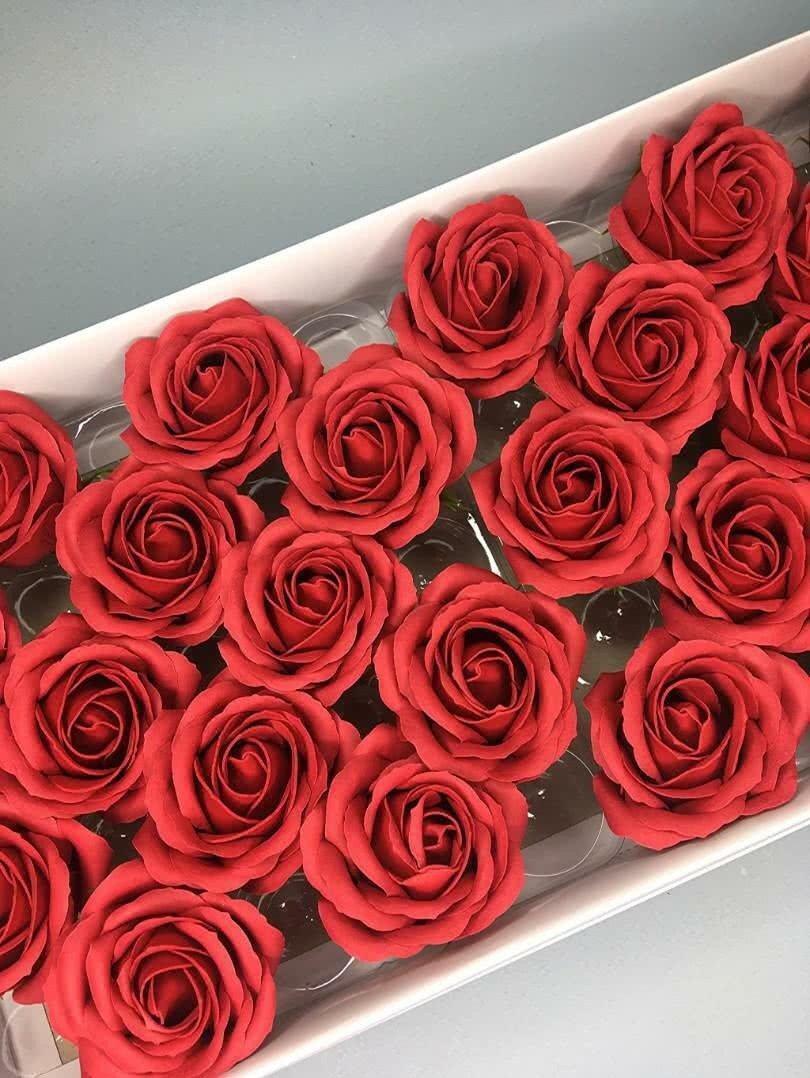 Роза крупная — бордовая 25 шт