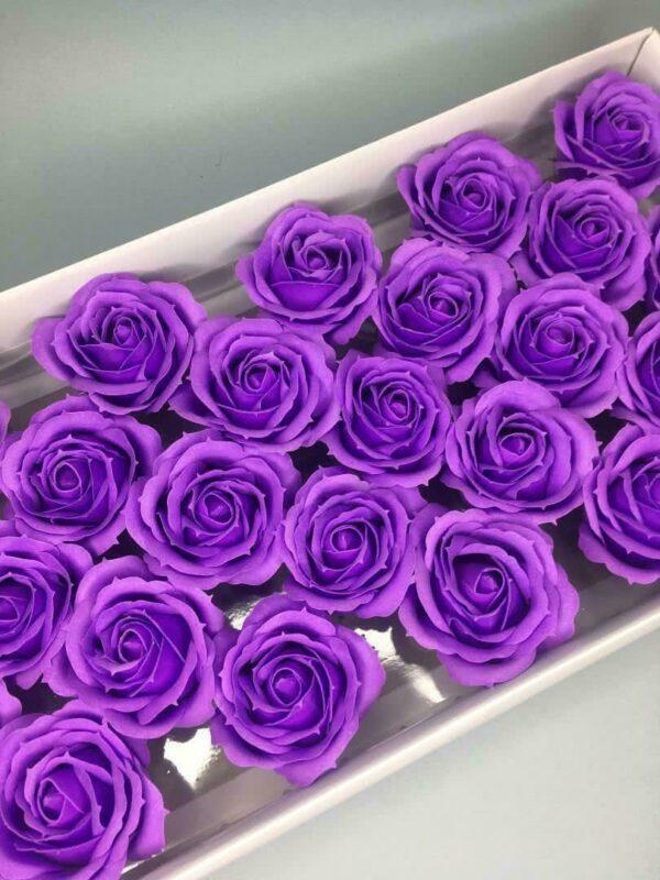 Розы из мыла - 800 Цвет: фиолетовый