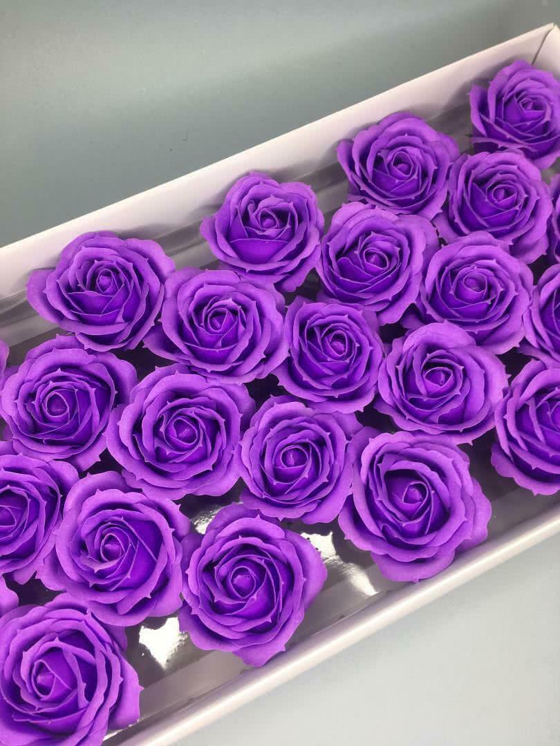 Роза крупная — фиолетовая 25 шт