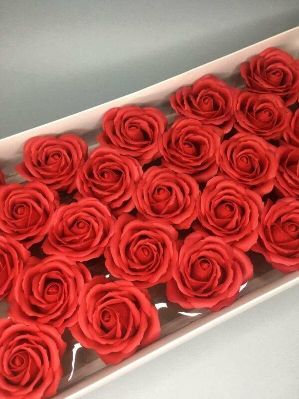 Розы из мыла - 800 Цвет: красный