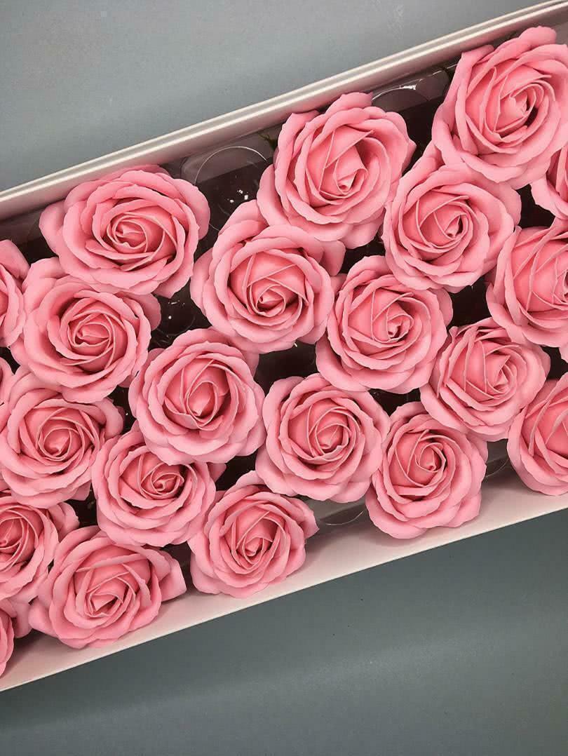 Роза крупная — нежно-розовая 25 шт