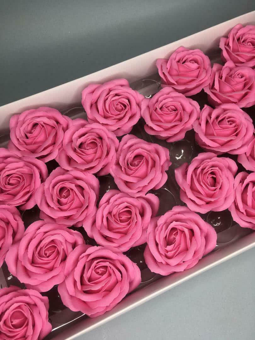 Роза крупная — розовая 25 шт