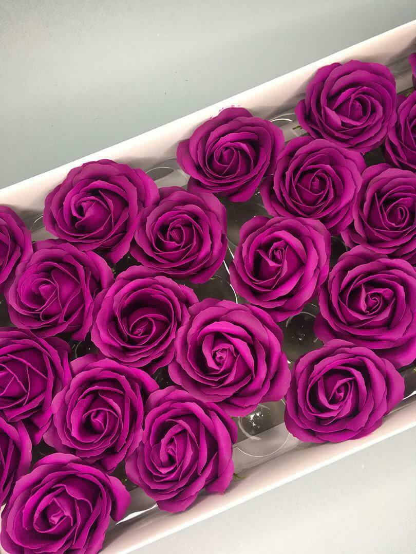 Роза крупная — светло-лиловая 25 шт