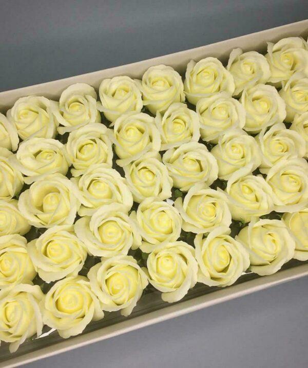 Розы из мыла - 600 Цвет: лимонный