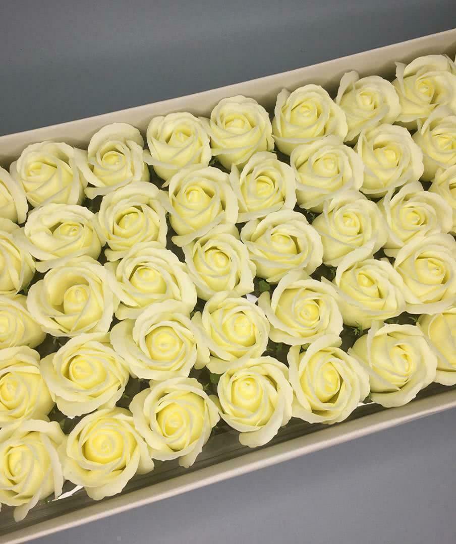 Роза — лимонная 50 шт