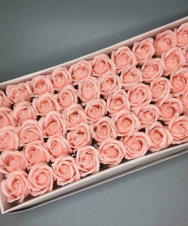 Розы из мыла - 600 Цвет: нежно-розовый