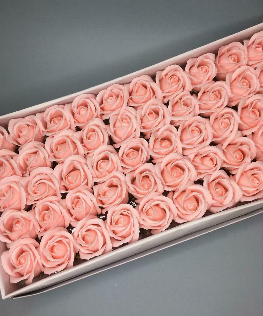 Роза — нежно-розовая 50 шт