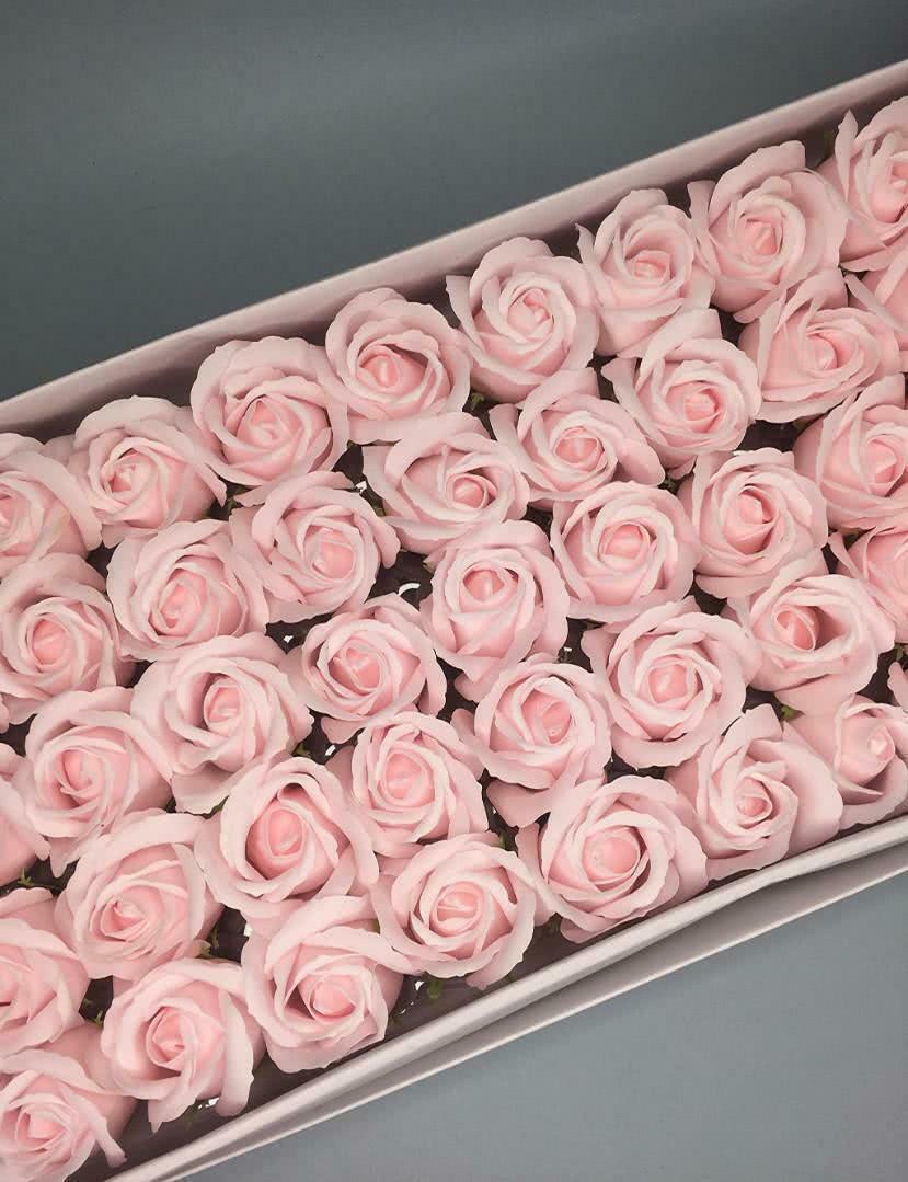 Роза — пастельно-розовая 50 шт
