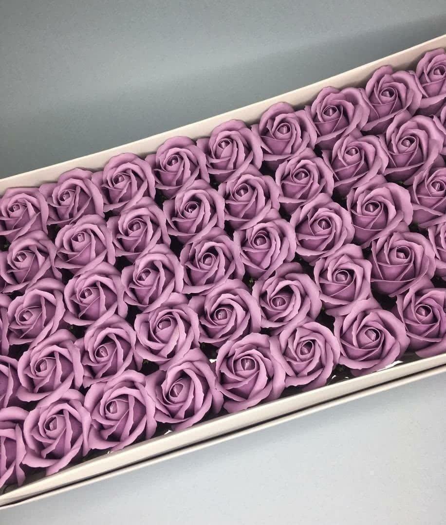 Роза — пудрово-сиреневая 50 шт