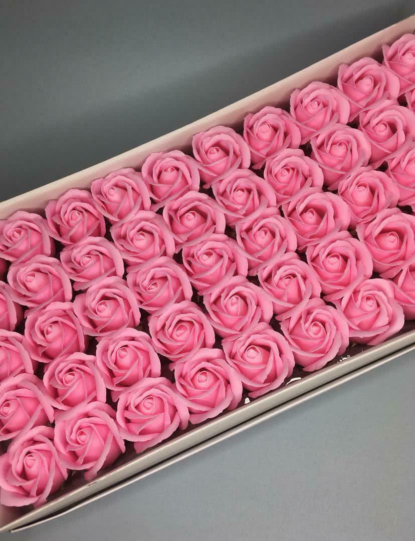 Роза — розовая 50 шт