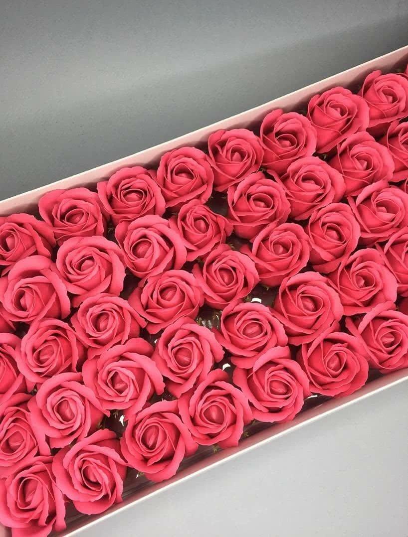 Роза — розовый коралл 50 шт