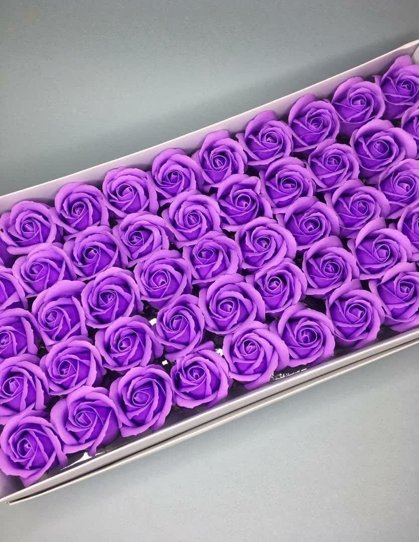 Роза — светло-фиолетовая 50 шт