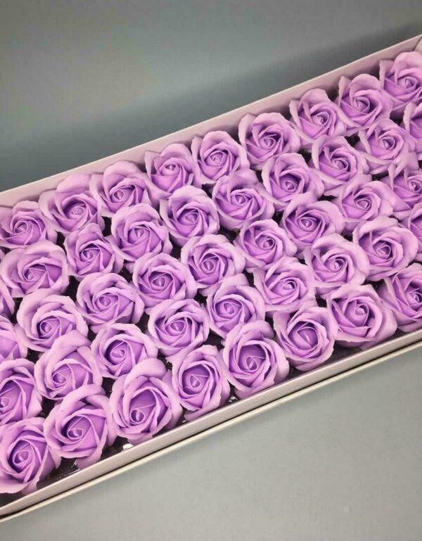 Розы из мыла - 600 Цвет: светло-сиреневый