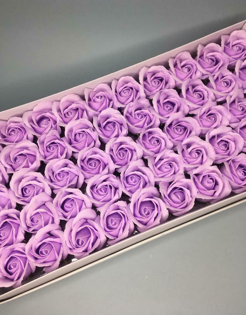 Роза — светло-сиреневая 50 шт
