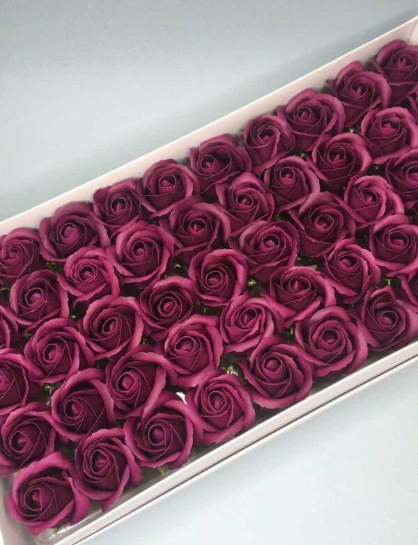 Розы из мыла - 600 Цвет: темно-лиловый