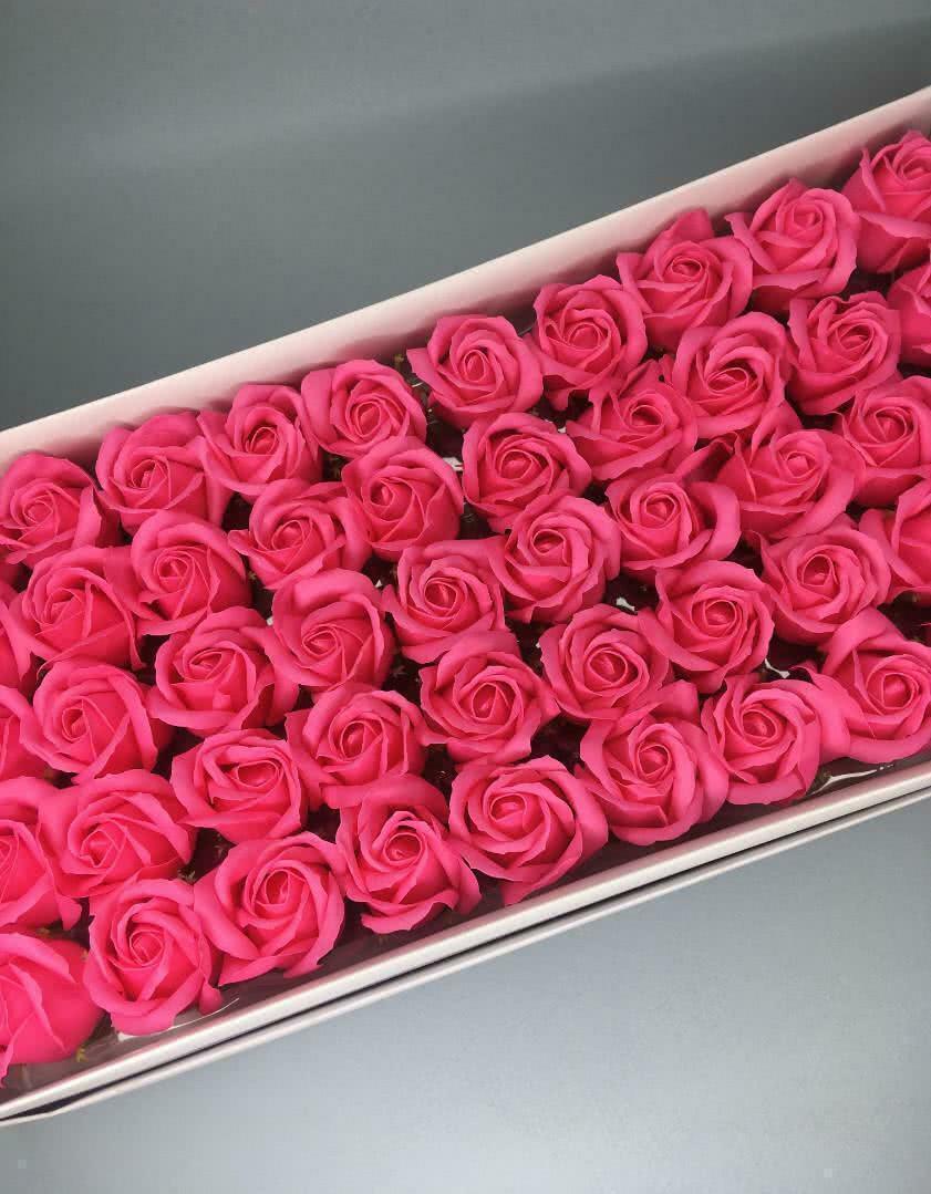 Роза — ярко-розовая 50 шт