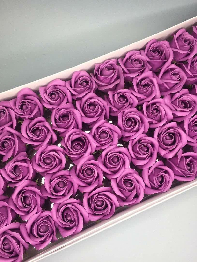 Роза — ярко-сиреневая 50 шт